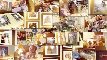 写真いっぱい使えるフォトブックテンプレート結婚式のプロフィールムービーに