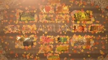 秋の紅葉に写真をのせて、オシャレなプロフィールビデオ