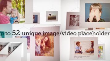 写真を白い空間にオシャレに配置・プロフィールビデオ