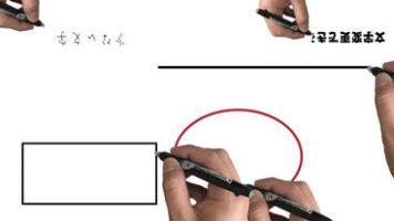ホワイトボードアニメーション風の手書きアニメーション